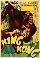 King Kong1933 A4 A3 Classic Movie Fay Wray Vintage Arg POSTER PRINT Film Art 30s