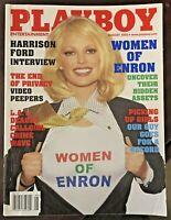 Vintage August 2002 Playboy Magazine Women of Enron Harrison Ford