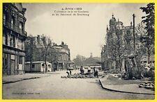 cpa 62 - ARRAS 1919 Rue GAMBETTA Bd de STRASBOURG Restaurant Provisoire PREVAL