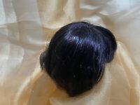 Vintage Size 8-9 Synthetic Brunette Doll Wig for Vintage Antique Doll