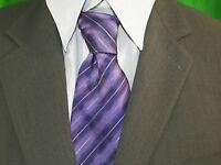 ARMAND THIERY Cravate mauve violet   soie  silk   tie corbata krawatte
