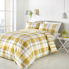 Balmoral Ochre Duvet Set. Single Double or King Size. Reversible Design