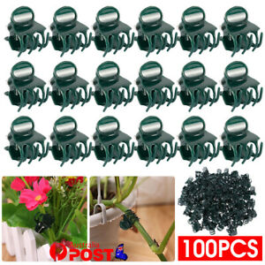 100Pcs Plastic Orchid Plant Garden Clips Vegetable Support Flower Holding Stake