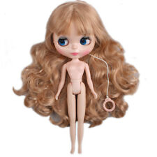 "[PF] 12"" Doll 1/6 Doll 7 Joints Nude Doll Light Brown Long Hair ~ Shiny Face"