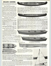 1955 PAPER AD 18' 16' The Sporter Portager Cedar Canvas Maine Made Canoe Deluxe