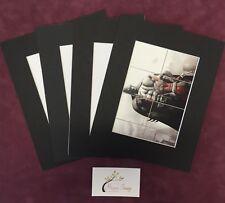 "5 x  8x10"" (5X7"" Window) Black Professional Picture Mounts- Photo Mount Pockets"