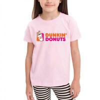 Age 2-6 Kids Toddler Doughnut Dunkin' D Little Boy's Girl's T Shirts