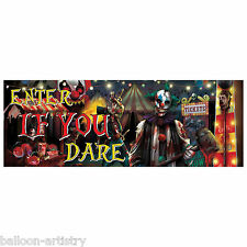 56cm Halloween Creepy Carnival Circus Party PVC Plastic Sign Banner Decoration