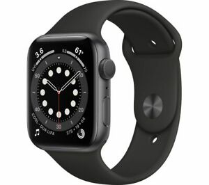 APPLE Watch Series 6 Space Grey Aluminium with Black Sports Band 44 mm - Currys