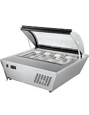 New 4 Pan Gelato Ice Cream Freezer Display Showcase Counter Top Server Rtd 67l
