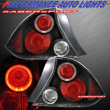 Set of Pair Black Altezza Taillights for 2001-2003 Honda Civic 2dr Coupe only