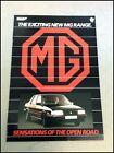 1986 1987 MG Metro Turbo Maestro Montego 16-page Car Sales Brochure Catalog