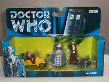 CORGI TY96201 DR DOCTOR WHO TV SERIES BESSIE CAR DALEK K9 METAL FIGURE SET