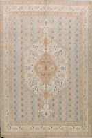 Vegetable Dye Khotan Geometric Oriental Area Rug Hand-knotted 8'x10' Wool Carpet