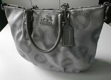 NICE COACH MADISON DOTTED OP ART C GRAY EMMA LG GALLERY TOTE BAG PURSE SATCHEL