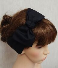 Black self tie headband hair scarf 50's tie up hair band head scarf bandana bow