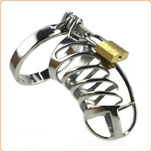 USA SHIP CB Restraint Chrome Male Chastity Cage Device - Fast Shipping!