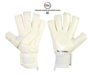 Football Goalkeeper Gloves Top Pro Gk Saver PS07 Contact Palm white goalie glove