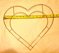 15 inch Heart Wire Wreath Ring - Pack of 5 - Just £5 each including P&P