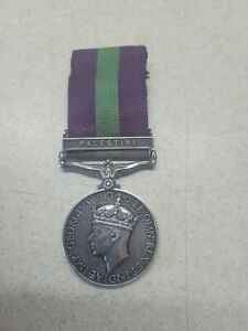 Generall service Palestine medal Green Howards PTE A M Taylor