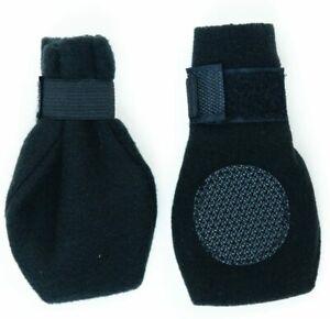 Arctic Fleece Dog Boots - MEDIUM - Set of 4 - Protect Ice/Cold - Black - NWT