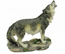 More details for novelty howling wolf figurine statue ornament wolves gift