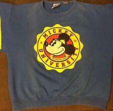 Vtg 1980's Mickey Mouse College Long Sleeve Crew Neck Big Logo's Men's M Rare