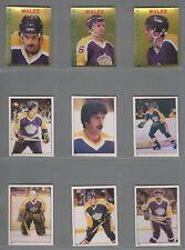 1981-82 O-Pee-Chee Hockey Sticker LA Kings Complete Team Set (14) OPC