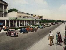 Cartolina Rimini lungomare auto d'epoca 1955 USATA VIAGGIATA SENZA FRANCOBOLLO