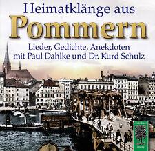 Heimatklänge aus Pommern (CD) Lieder, Gedichte, Anekdoten u.a. mit Paul Dahlke