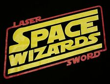 """Laser Sword Space Wizards"" Star Wars New Hope Men's Large Shirt Teevillain"