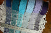 Mesh Ribbon BLUES & PURPLES 36-37mm wide 5, 3 & other metres 6 Col Choice LRD5