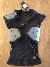 Mens Nike Pro Hyperstrong Football Shirt 4 Pads Black 839930-010 Sz Medium