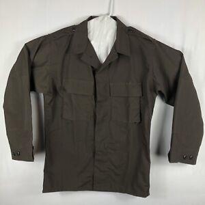 New Tru-Gear Tru-Spec Long Sleeve Men's Brown Rip Stop Med/Regular Tatical Shirt