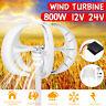 800W 12V/24V Wind Turbine Generator 5 Blade Windmill Power Charge Lantern
