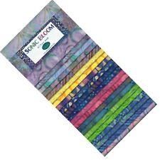 "Batik Jewels Sonic Bloom 40 Strips 2-1/2in 2.5"" Jelly Roll Rollup Fabric 84168"