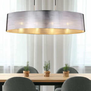 Plafonnier design argenté salon salle à manger éclairage couloir lumière neuf