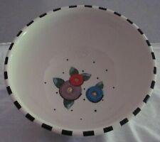 "Mary Engelbreit Rare Ceramic Mixing Bowl ""Flowers"" 10½ 1994 Gaetano Pottery"