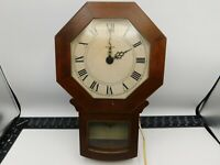 Vintage Howard Miller Barwick Wall Clock Electric Movement Model 4637 Working