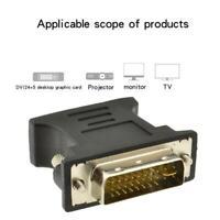 Adapter DVI 24 + 5 plug analog to VGA socket New