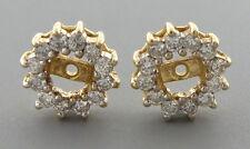 0.72ct 14K YELLOW GOLD DIAMOND EARRING JACKETS H SI1