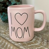 Rae Dunn Matte Pink I HEART MOM Mug NEW 2020 I LOVE MOM - Free SHIPPING