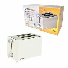 Sensio Home, 2 Slice Toaster, 6 Heat Setting, Bread Crumb Tray, White, Wide BNIB