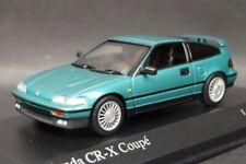1:43 MINICHAMPS 430161528 Honda CR-X Coupe 1989 Green Metallic Model car