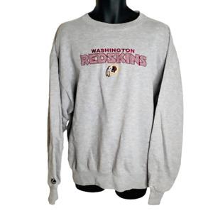 Washington Redskins Majestic NFL Vintage Embroidered Gray Sweatshirt Gray LG