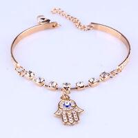 Fashion Charm Women Crystal Rhinestone Gold Plated  Bracelet Bangle Jewelry Gift