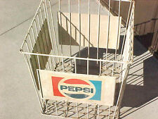 BS1 RARE vintage pepsi rubber coated wire basket cage store display USED cond.