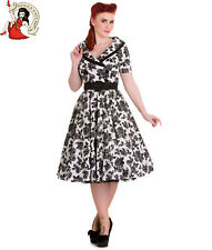 HELL BUNNY 50's HONOR DRESS vintage style FLORAL rockabilly