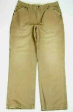 American Eagle Out fitters Tan Beige Khaki straight Leg Worker Pants 33 x 30