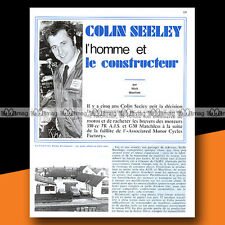 ★ COLIN SEELEY : Colin Seeley Racing Develpment ★ 1970 Article Presse Moto #b366